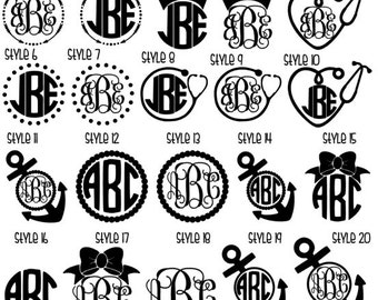 2 DOLLAR SALE: Monogram Decals