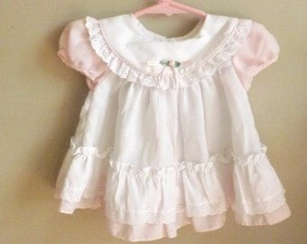 Baby Dress. Baby Girl Clothes. Baby Clothes. Pretty Dress.