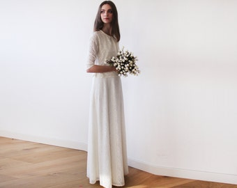 Ivory lace wedding skirt, Maxi Lace skirt, A line wedding skirt