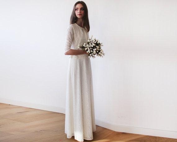 ivory lace wedding skirt maxi lace skirt a line wedding
