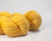 Hand Dyed Merino / Nylon Sock Yarn Golden Yellow