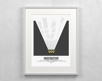 Ghostbusters Art ~ 80s Movie Poster, Film Gift, Art Print by Christopher Conner