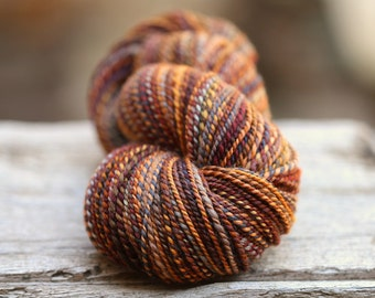 "Handspun Worsted BFL ""Noon Trainr""  216 yds."