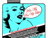 Personalized Rockabilly Retro Pin up Girl Lip Balm Labels    Pura Gioia