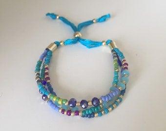 Layered Beaded Friendship Bracelet