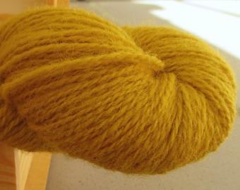 100% Wool yarn for knitting Mustard 100g N 6/2