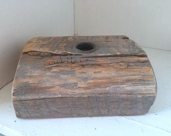 Vintage Industrial Wood Foundry Mold / Antique Foundry Mold