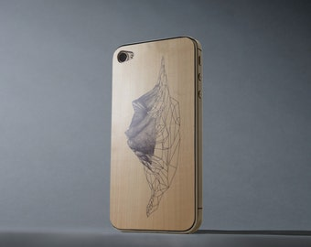 Narvik Print by Anna Shay iPhone 4/4s Real Maple Wood Skin - Made in the USA - FREE Shipping