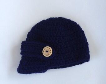 Crochet Baby Visor Hat Baby Boy Hat Brim Hat Baseball Cap Infant Boy Hat Newborn Photo Prop Made To Order
