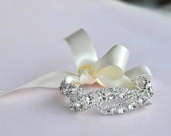 Rhinestone bracelet, Wedding Bracelet- Wedding Bracelet - Bridesmaid Gift,Bridal Bracelet,Bridesmaid Bracelet ,Crystal Bracelet ,Bridal Gift