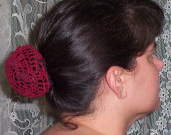 Hair Bun Cover- in Cotton Crochet Thread