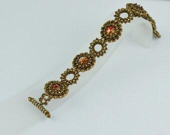 Swarovski Red Magma crystal bracelet. (B10035)