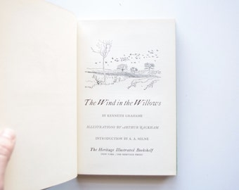 The Wind In The Willows by Kenneth Grahame - Heritage Illustrated Bookshelf 1959