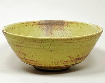 All purpose yellow glazed kitchen bowl