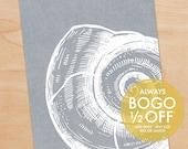 Ocean Conch Print, Large Canvas, Ocean Print, Ocean art, Beach Art, Nautical Art, Ocean Decor, Beach Decor, Beach House, Home Decor