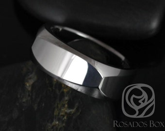 Rosados Box Brutus 8mm Tungsten European/Square Shaped Beveled Edge High Finish Band