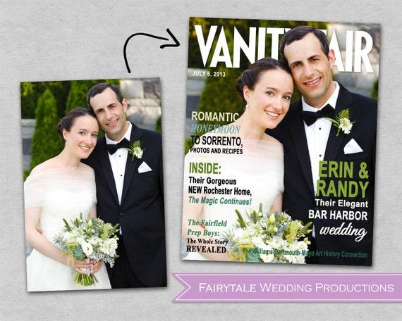 Custom Bridal, Engagement, Anniversary, Wedding Magazine Cover Poster - Modern Wedding, Vanity Fair, Vogue, Brides - DIY Digital Printable