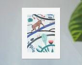 Illustration, Affiche, Impression sur papier, Le Roi Singe