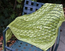 Avocado Green Shawl Crochet Pattern, Prayer Shawl, Easy Crochet Tutorial Pattern, PDF Download