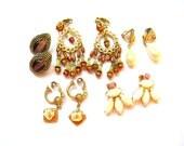 Vintage Earring Lot - Lot of Earrings - Earring Destash - Jewelry Destash