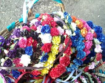Paper Carnation Floral Garland/ Head Wreath/Hat Band