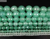 Natural Aventurine Gemstone Faceted Round Beads 15.5'' 2mm 3mm 4mm 6mm 8mm 10mm 12mm 14mm Great For Jewelry Design and Crafts