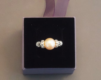 Pearl ring pink