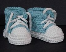 Crochet Baby Shoes,Crochet Baby Booties,Crochet Baby Tennis Shoes,Neutral Baby Gift,Baby Boy Shoes,Baby Girl Shoes,Baby Tennis Shoes, Green