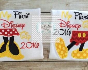 1st Disney Trip Mouse feet shirt