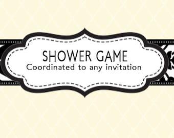 Coordinating Shower Game - Design Add On