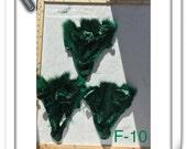 F-10 Face Head Crafter Supply Green Coyote Pelt Scrap Remnants Tribal Art Craft