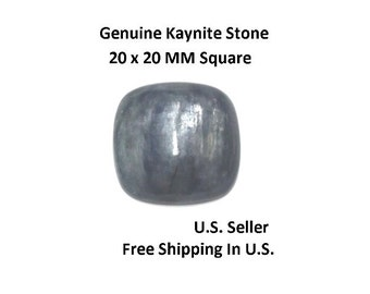 100% Natural Kaynite Cabochon 20 x 20 MM Square (Pack of 1)