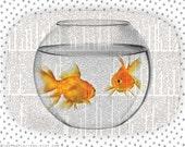 goldfish bowl II melamine platter