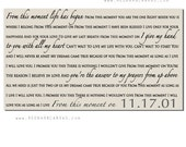 From this moment, Shania Twain song Lyrics on Canvas, Wedding Gift, Anniversary, Personalized Word Art