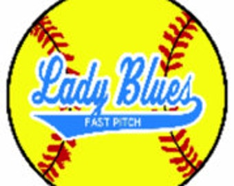 Lady Blues Decals or Car Magnet
