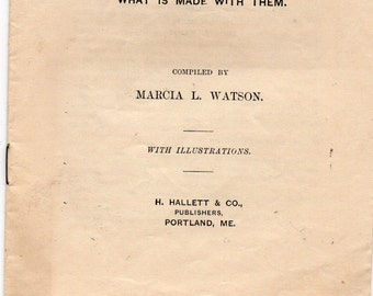 Antique Needles and Hooks and What Is Made With Them Marcia L. Watson w/Illustrations Central Square Series Hallett Co Portland ME Publisher
