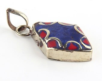 Mini Afghan Ethnic Pendant, Kuchi Pendant, 1 piece // ETH-026