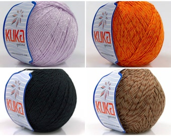 4 X 100gr Mercerized cotton yarn KUKA