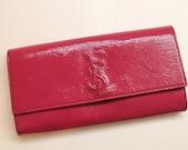 Yves Saint Laurent Clutch Authentic Bag Pink Fuchsia