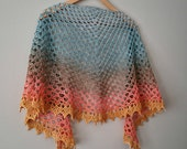 Crochet PATTERN - Collective Unconscious Adjustable Crescent Shaped Lacey Shawl