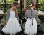 Knitting patterns for women and girls - Lace Shrug with ribbon, bolero pattern  - Listing148