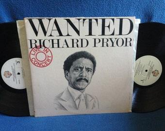 "Vintage, Richard Pryor - ""Wanted, Live In Concert"" Comedy Classics Vinyl LP Record Album, Original First Press, Black Funerals, Deer Hunter"