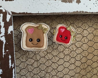 Peanut Butter and Jelly clips set how cute is this duo!!