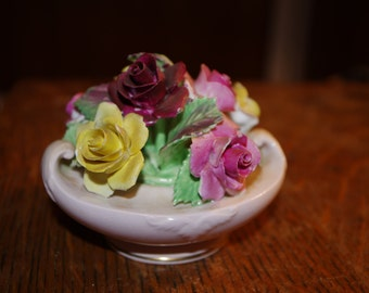Floral Bone China Porcelain Flower Pot
