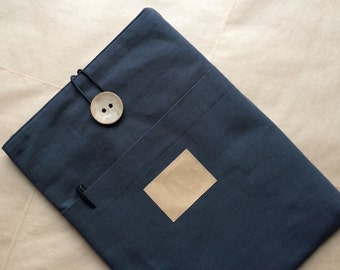 """personalized 13inch Macbook PRO RETINA sleeve, macbook case cover with pocket, button""""Simply_charcoal"""""""