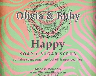 Happy Sugar + Soap Scrub