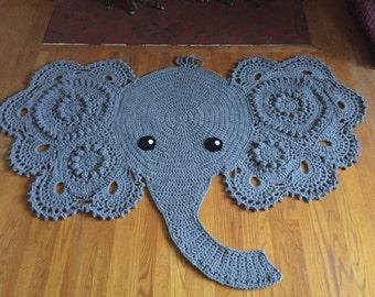 Crochet Elephant Rug - Custom