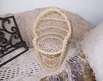 Doll Chair Peacock Chair, Doll Furniture, Wicker Doll Furniture, Rattan Peacock  Doll Chair, Doll Furniture, Toys, Vintage Toys, :)s*
