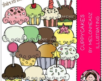 Cupcake clip art - Cuppycakes - Combo Pack