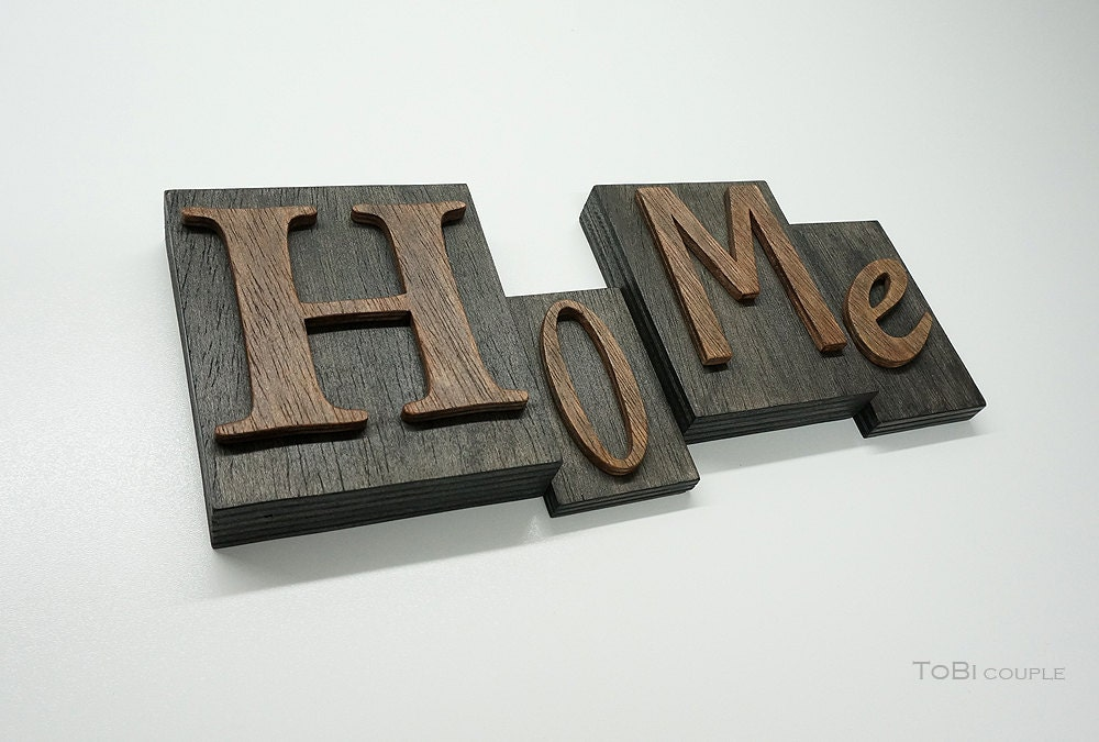 wooden block letters rustic home wooden letters on wooden block 1723